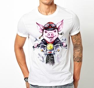 """Футболка """"Biker Pig"""""""