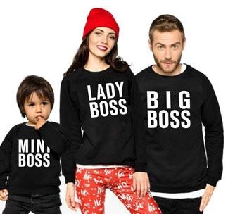 """Комплект семейных свитшотов """"Boss"""""""