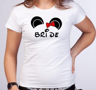 "Футболка ""Bride"" микки"