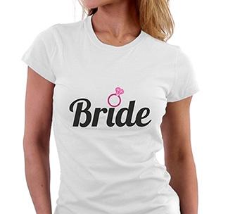 "Футболка ""Bride"" кольцо"