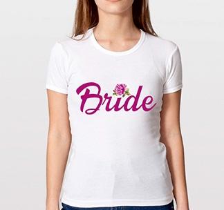 """Футболка """"Bride"""" цветочная коллекция"""