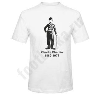 """Футболка """"Чарли Чаплин с тростью"""""""