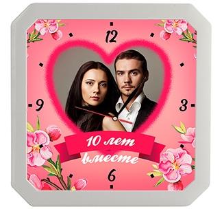 """Часы """"Годовщина свадьбы"""" с Вашим фото и датой"""