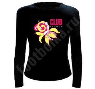 "Футболка с длин.рукавом ""Club flower"""
