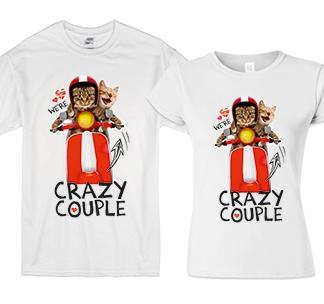 """Футболки для двоих """"Crazy couple"""" сумасшедшая парочка"""