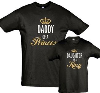 """Футболки для папы и дочки """"Daddy of a Princess"""""""