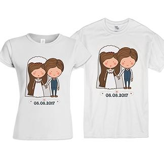 """Свадебные футболки """"Дата нашей свадьбы"""""""
