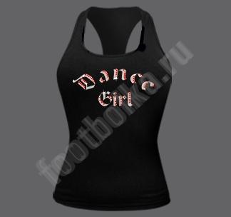 """Майка - боксерка """"Dance girl"""" стразы swarovski"""