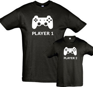 "Футболка для папы из комплекта ""Player 1, Player2"" SALE"