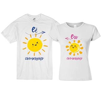 """Парные футболки """"Его солнышко, ее солнышко"""""""