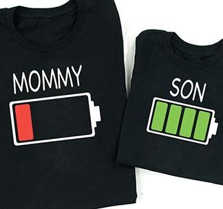 """Футболки для мамы и сына """"Energy Mommy, Son"""" alex"""