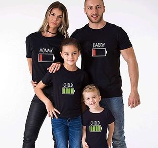 "Футболки на четверых ""Energy Daddy, Mommy, Child"" alex"
