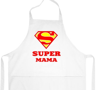 """Фартук """"Супер мама"""" супермен"""
