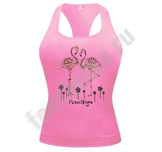 """Майка """"Розовый фламинго"""""""