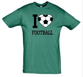 """Футболка """"I love Football"""" зеленая"""
