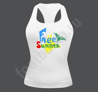 """Майка - боксерка  """"Free summer"""""""