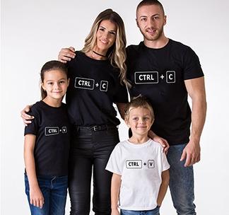 """Футболки для семьи на четверых """"Ctrl"""" alex"""
