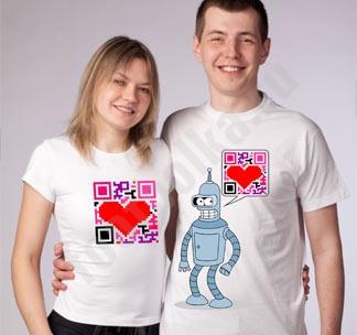 """Парные футболки для влюбленных """"Бендер"""""""