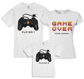 """Семейные футболки """"Game over"""""""
