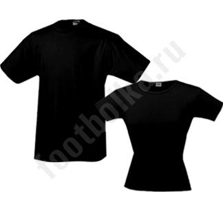 Комплект мужская футболка (классическая) + женская (стрейч)