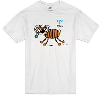 """Футболка знак зодиака """"Овен"""" тигр"""