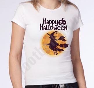 "Футболка halloween ""Ведьма на метле"""