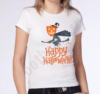 """Футболка halloween """"Тыква на метле"""""""