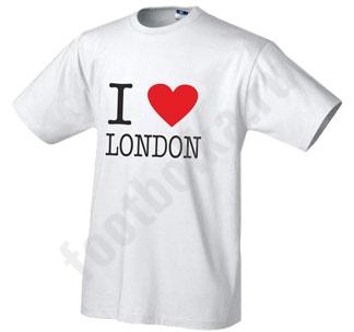 """Футболка """"I love London"""""""
