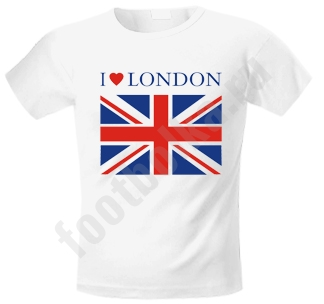 """Футболка """"I love LONDON"""" с британским флагом"""