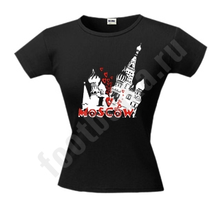 "Футболка ""I love Moscow"" Кремль"
