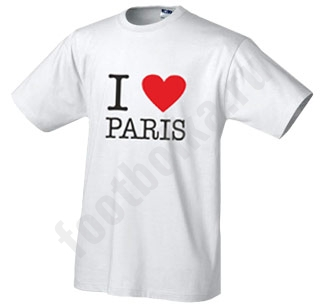 "Футболка ""I love Paris"""