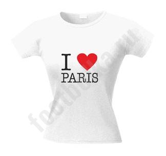 """Футболка женская """"I love Paris"""""""