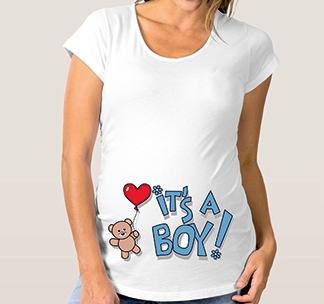 """Футболка для будущей мамы """"Its a Boy"""" мишка"""