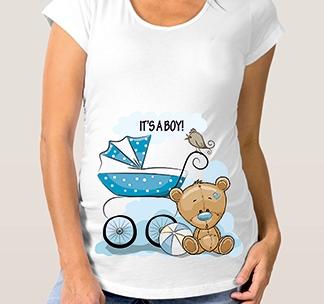 "Футболка для беременных ""It s a Boy!"" коляска"