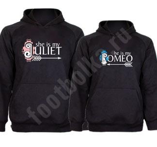 """Толстовки для влюбленных """"Ромео и Джульетта"""""""