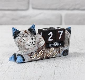"Деревянный календарь ""Кошка"""