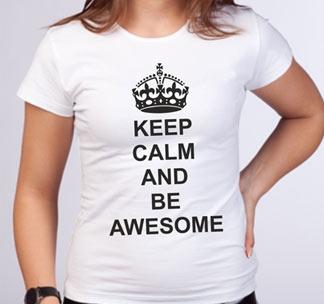 "Футболка ""Keep calm and be awesome"""