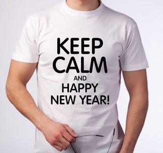 "Футболка ""Keep calm and Happy New Year"""
