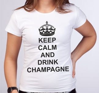 "Футболка ""Keep calm and drink champagne"""