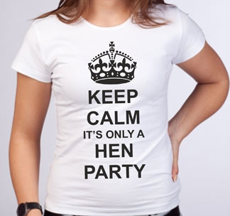"Футболка ""Keep calm its only a hen party"""