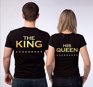 """Парные футболки """"Король и его королева"""""""