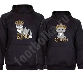 "Парные толстовки ""King сat/ Queen cat"""