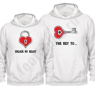 """Парные толстовки """"Ключ от моего сердца"""""""