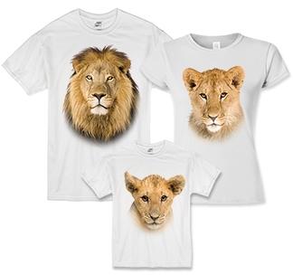 """Семейные футболки """"Король лев"""""""