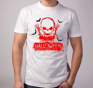 """Футболка halloween """"Halloween"""" скелет"""