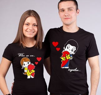 """Женская футболка """"Love is"""" стрейч черные SALE"""