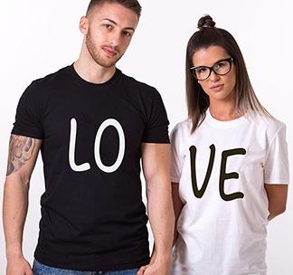 """Парные футболки унисекс """"LOVE"""" alex"""