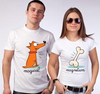 """Футболки для двоих """"Magical magnetism"""""""