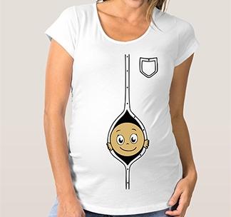 """Футболка для беременных """"Малыш в рубашке"""""""
