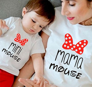 "Футболка для мамы  ""Mini mouse, mama mouse"" SALE"